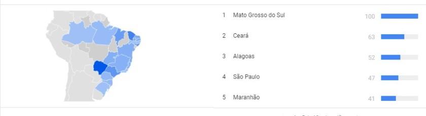 Mapa por interesse Mato Grosso do Sul