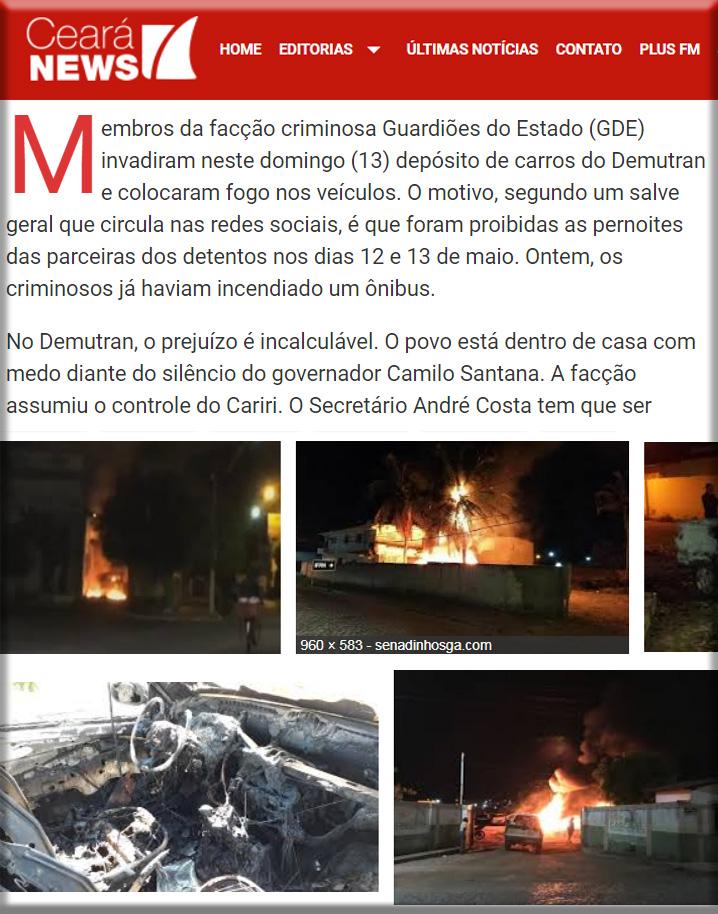 Ceará news incêndio em Cariri GDE 745