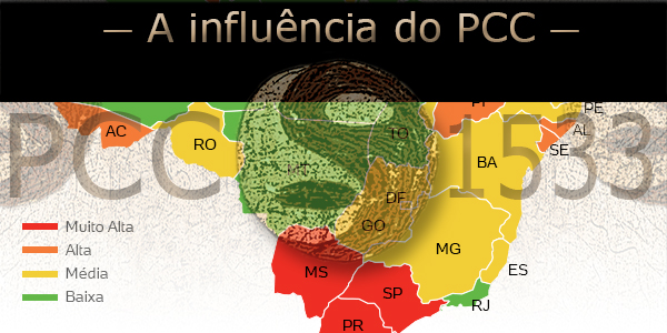 Influência do PCC por estado