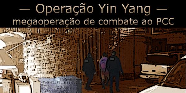 Foto com preso na operação policial Yin Yang sendo conduzido para a delegacia em Mato Grosso do Sul.