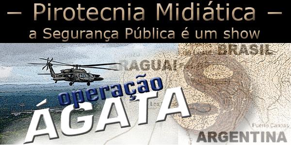 """Arte com um helicóptero sobrevoando a região da Tríplice Aliança sob a frase """"pirotecnia midiática"""""""