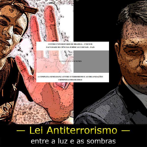 Fotomontagem colocando de um lado em fundo branco um jovem fazendo o símbolo do PCC e de outro em fundo negro Eduardo Bolsonaro