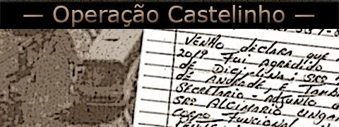 Imagem de uma carta de um preso tendo ao fundo uma foto da operação castelinho.