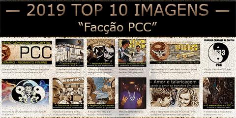 """Miniaturas das 10 imagens mais relevantes segundo o buscador sob a frase 2019 Top 10 - """"facção PCC"""""""
