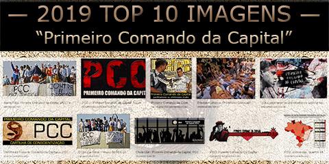 """Miniaturas das imagens mais buscadas na internet em 2019 sobre a facção """"Primeiro Comando da Capital"""""""