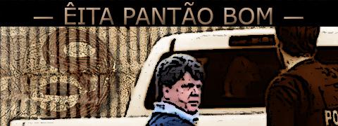 Arte sobre foto de Gerson Palermo deixando a prisão