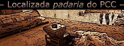Arte sobre foto de um galpão industrial de cocaína no bairro de Paraisópolis sob a frase: localizada padaria do PCC.