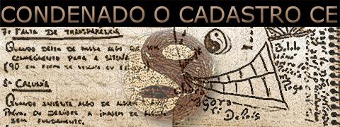"""Arte sobre trecho do Dicionário da Facção PCC 1533 sob o título """"Condenado o cadastro do CE""""."""