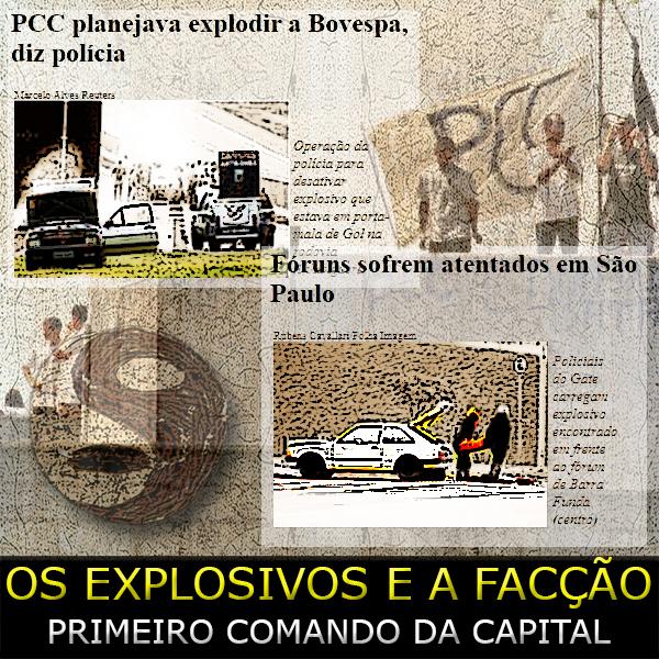 Montagem da ação da polícia nos atentados do PCC 1533 em 2002