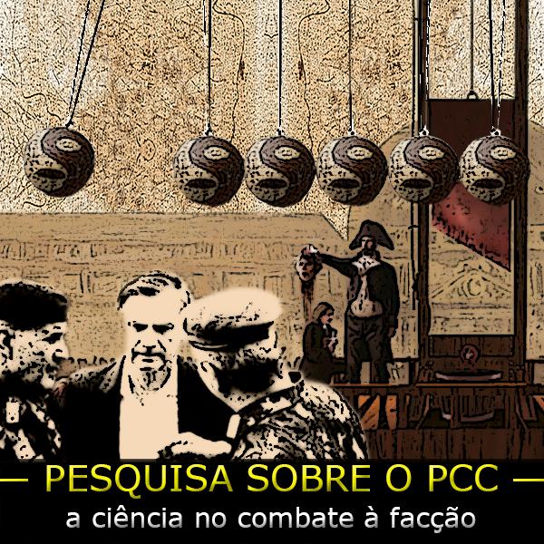 Arte sobre imagem com Bolsonaro e os militares e um guilhotina