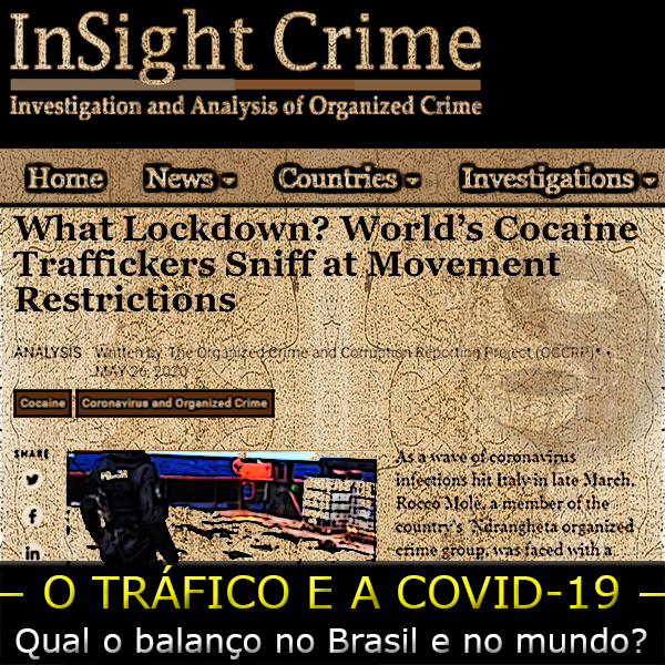 arte sobre print do site do insight crime
