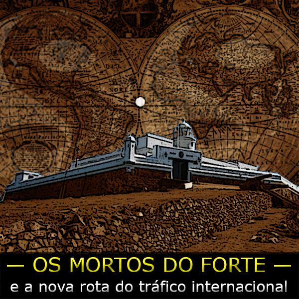 arte sobre foto da fortaleza do Cerro e o símbolo da facção PCC 1533
